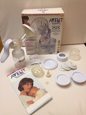 Avent Naturally Isis Manual Breast Pump + One  Milk Storage Bottle
