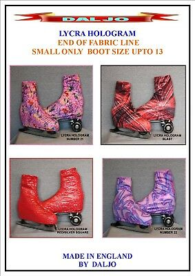 Ice Skating / Roller Skating  Lycra Hologram Boot Covers Small Only
