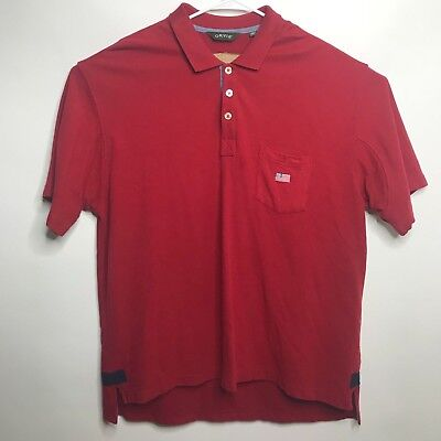Orvis Mens Short Sleeve Polo EMBROIDERED American Flag 100% Cotton Size Plus XXL