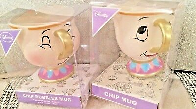 NEW Primark Chip Original & New Bubbles chip Cup Mug Disney Beauty & The Beast