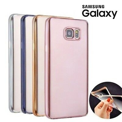 Premium Shockproof Silicone Gel Case Electroplated Back Cover For Samsung Galaxy