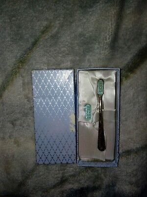 Vintage Web Sterling Silver Baby Toothbrush With Refill Nos Blue