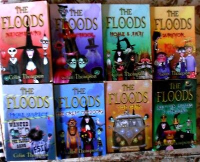 8 x THE FLOODS Nos. 1 - 8 VGC  NEIGHBOURS/PLAYSCHOOL/HOME/SURVIVOR etc Bulk Lot