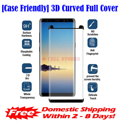 Case Friendly Full Cover Tempered Glass Screen Protector for Samsung S8 S9 Plus