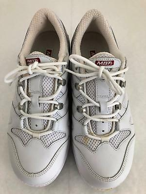 MBT SPORT 041 White Leather Toning Walking Shoes Mens 6.5M
