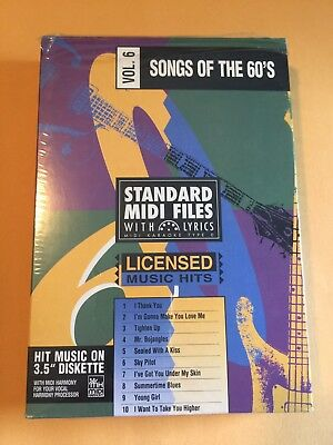STANDARD MIDI FILES 3 5 DISKETTE SONGS of pauls best songs karaoke