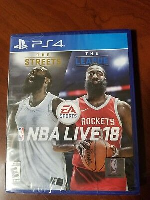 NBA Live 18 (Sony PlayStation 4, 2017) Brand New Factory Sealed Ships Fast