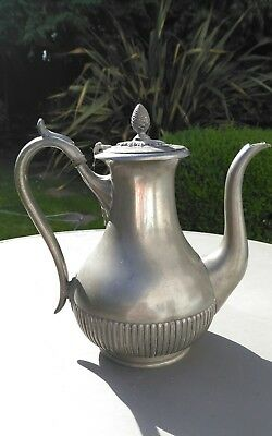 JAMES DIXON & SONS PEWTER COFFEE POT MID TO LATE C19th