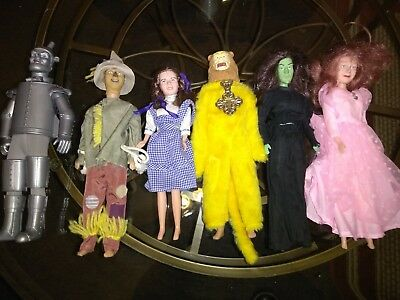 Wizard of Oz Doll Collection 50th anniv. Lot of 6 Dolls Vintage 1981 ,85,88