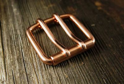 Copper Belt Buckle Double Tongue | Roller Buckle