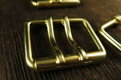 Brass Belt Buckle Double Tongue | Roller Buckle Solid Brass