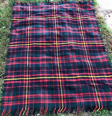 Vintage Abercrombie & Finch Wool Blanket Made In Scotland