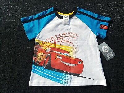Disney Store Cars 3 Graphic T-Shirt BOYS Size 3 NEW With Tags White-Blue