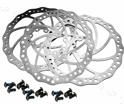 Mechanical Cycling Bicycle Bike Brake Disc Rotors 180mm With 6/12 Bolts KIT