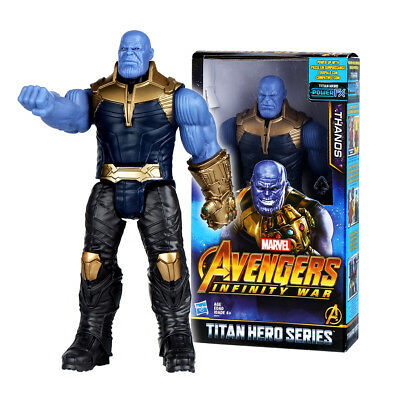 "12"" Titan Hero Series Marvel Avengers 3 Infinity War Movie Thanos Action Figure"