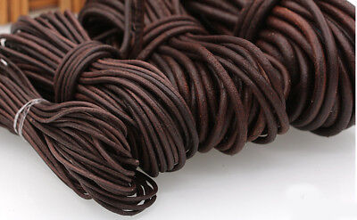 10m Round Leather Rope Cowhide Cords  DIY Jewelry necklace Bracelet Craft Thread
