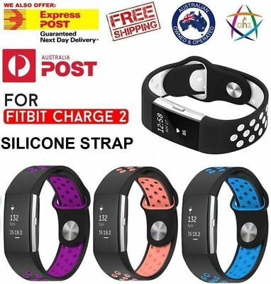 Fitbit Charge 2 Sports Watch Band Strap Silicone Bracelet smart wristbands AUS