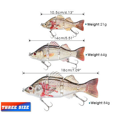 14cm / 18cm Minnow Fishing Lures Crank Bait Hooks Bass Crankbaits Tackle Sinking
