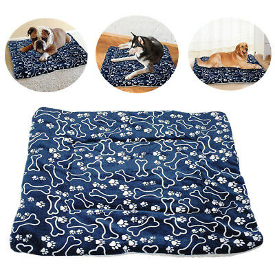 Warm Pet Mat Bone Print Cat Dog Puppy Fleece Soft Blanket Bed Cushion New