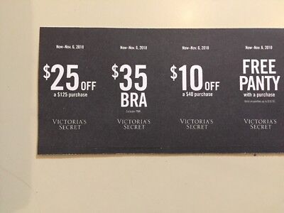 51976f7b5a81 Victoria's Secret Coupons- panty with purchase , 25$ off 125; 10$ off