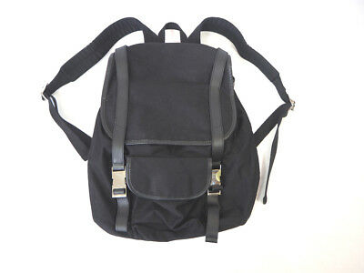 A.P.C. black backpack with leather accents, as new condition, used once