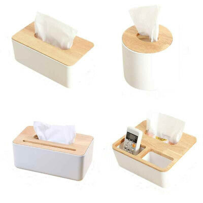 1Pcs Tissue Box Serviettenhalter Eiche Holz Spender Haus Dekoration Zuhause