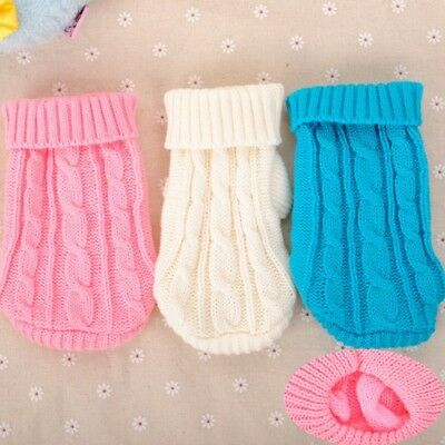 Small yorkie Dog Clothes Winter Knit Sweater Hoodie Coat for chihuahua Teacup