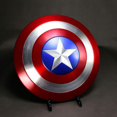 Cool 1:1 The Avengers Captain America Shield Strong Metal Made Wood Box CT1LHJ