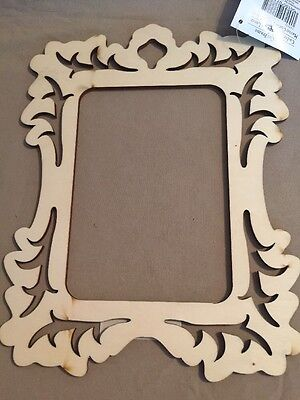 Laser Cut Wood Frame Art Minds Unfinished 149 Picclick