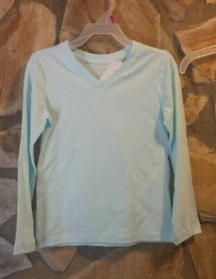 Faded Glory Girls' Long Sleeve V Neck Crew Neck T Shirt Top Blouse Tee MINT