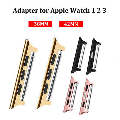 Stainless Steel Adapter Connection Strap Connector For Apple iwatch 38mm/42mm