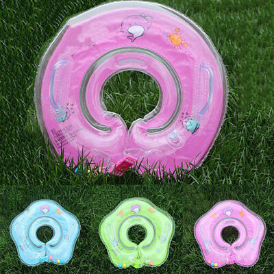 HOT Baby Kids Infant Portable Swimming Neck Float Inflatable Tube Ring Safety