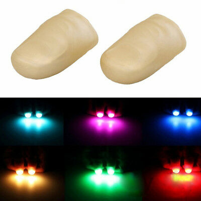 2pcs Magic LED Finger Lights Bright Light Up Thumbs Trick Appearing Light Toys