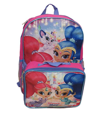 Shimmer and Shine Backpack with Lunch Bag Full Size School Tote