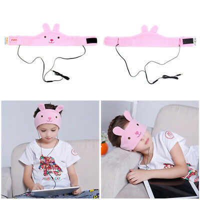 Children Kids Headband Headphones Volume Limited Adjustable Soft Plush Hair Band