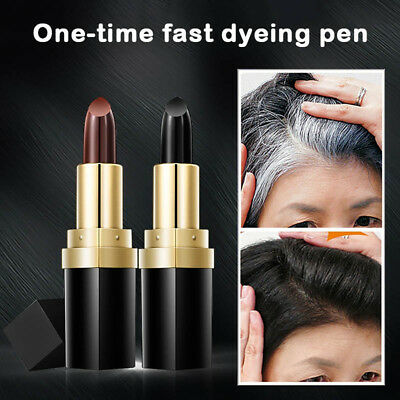 Temporary Cosmetic Cover Your Grey White Hair Touch Up Hair Color Lipstick Pen