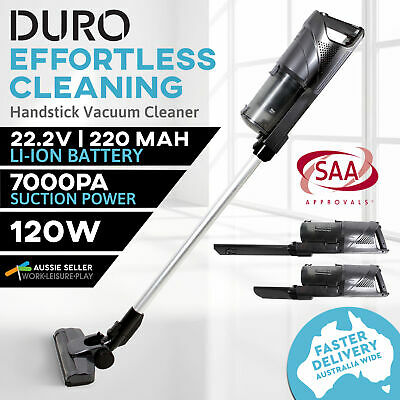 Portable Stick Vacuum Cleaner Rechargeable Cyclonic Handstick Bagless Stand 120W