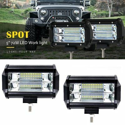 72W Car 12V LED Work Spot Lights Headlight 4x4 Van ATV Offroad SUV Truck Lamp
