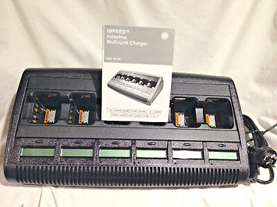 Motorola Impres Adaptive Charger WPLN4218B  with 6 bays and 6 Displays.