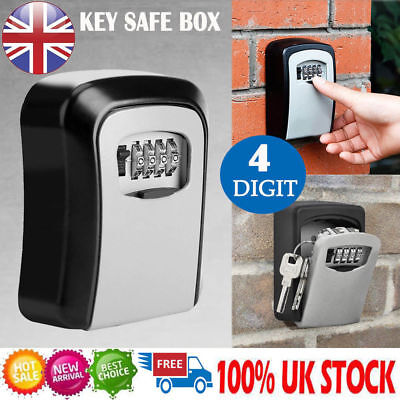4 Digit Wall Mounted Key Safe Key Box Secure Lock Combination Safety Key Outdoor