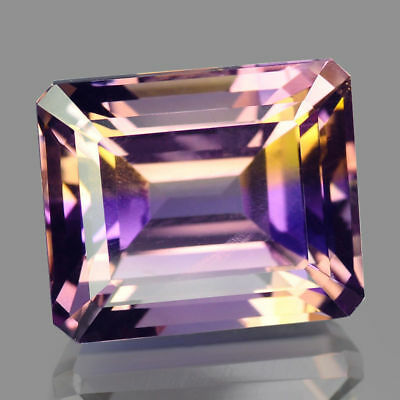 18.64cts Rare Octagon Bi color Natural Ametrine Loose Gemstones Free Shipping