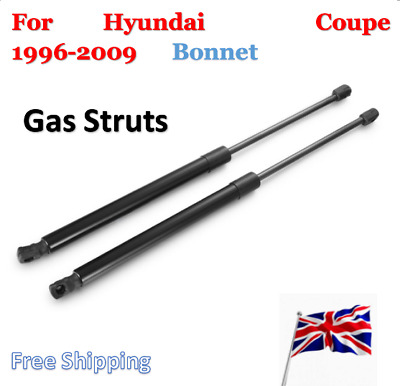 2X  Bonnet Gas Spring Strut Support For Hyundai (GK,RD) Coupe 1996-2009 452.5mm
