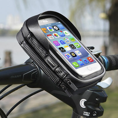 Rockbros Bicycle Handlebar Phone Bag Rainproof Touch Screen Phone Case 6.0 Inch