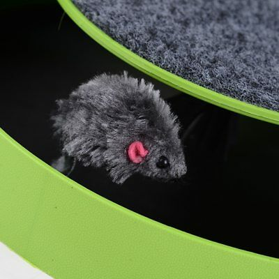 Cat Play Toy Pet Kitten Catch The Moving Mouse Plush Scratching Claw Care Mat