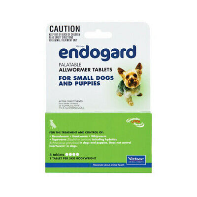Endogard Broadspectrum All-Wormer Tablets for Small Dogs 5kg Puppies 4's (E0901)