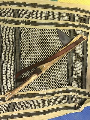 Indian Gunstock War Tomahawk & Plug Bayonet Knife Lot