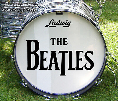"""The Beatles, '64 US Tour, Repro Logo Decal Set, for 22"""" Bass Drum Head"""