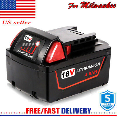NEW for Milwaukee M18 Lithium XC Extended 4.0 AH Battery 48-11-1852 48-11-1850