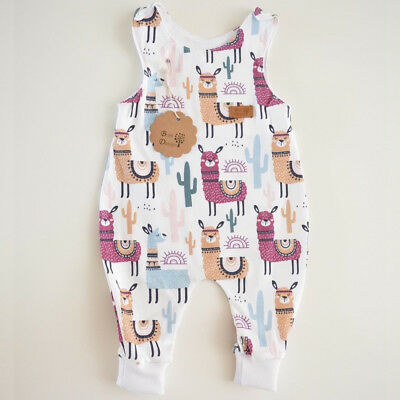 AU Newborn Baby Boy Girl Floral Long Romper Jumpsuit Bodysuit Clothes Outfit Set