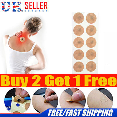 10Pcs/set Magnetic Therapy Pain Relief Body Magnets Patches Plasters Natural Uk